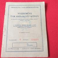 Régi OTP betétkönyv