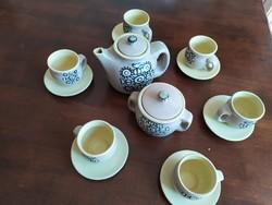 Iparművész kerámia kávés készlet áron alul eladó