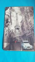 Régi fotóról Mercedes reklám Eiffel toronnyal
