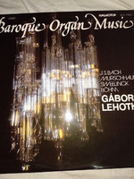 Régi bakelit lemez LP Lehotka Gábor vintage antique LP bakelite baroque organ music