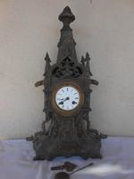 Antik asztali / kandalló óra Lenzkirch szerkezettel