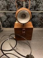 Átalakított, működő régi Perion akkumulátoros bányászlámpa