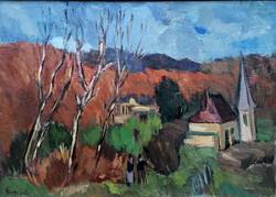Emőd Aurél ( 1897 - 1958 ) Táj