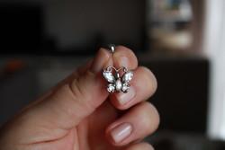925 Ezüst köves pillangós köldök piercing