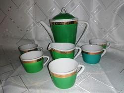 Hollóházi kávés készlet 5 személyes