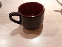 Fekete mázas kerámia kávés csésze mokkás