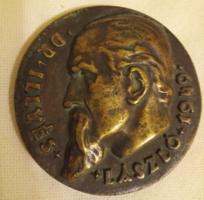 """Csúcs Ferenc Dr. Illyés László / Parag-ra-phuss"""" bronz emlék érem."""
