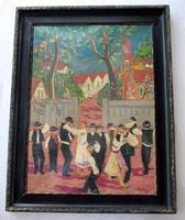 Pekáry István nagyméretű festménye