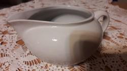 Drasche, fehér, porcelán, tej, tejszín kiöntő, szájánál lepattanással