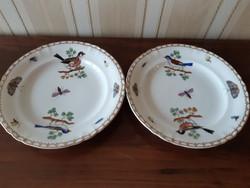 Herendi XIX.sz. Rothschild  mintás tányérok 2 db