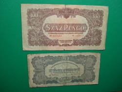 20, 100 pengő 1944