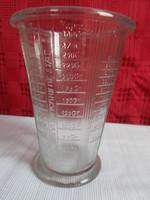 Retró  üveg mérőpohár ,örökségből   grammokat  is mér