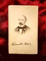 Vörösmarty Mihály egyetlen ismert albumin CDV képe -  Tiedge János talbotípiája