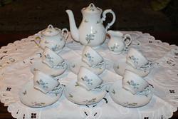Zsolnay kék barackvirágos teáskészlet