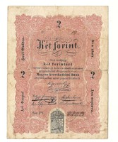 1848 as 2 forint Kossuth bankó papírpénz bankjegy 1848 49 es szabadságharc pénze sor  cg 65229