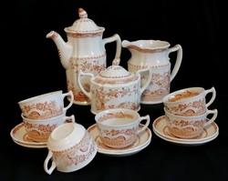 Furnivals angol fajansz teás készlet 1921-ből