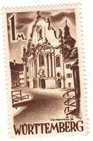 Németország Württenbergi francia megszálási övezet forgalmi bélyeg 1947