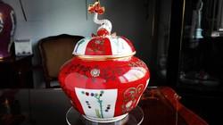 Siang Rouge - Gödöllő mintás Herendi óriás bonbonier