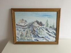 Festmény keretben 65,5 x 51,5 cm