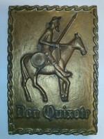 Don Quijote súlyos öntöttvas falikép