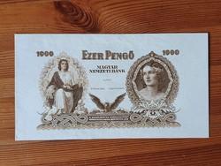 MNB 1000  Pengő 1943 bankjegy tervezet.