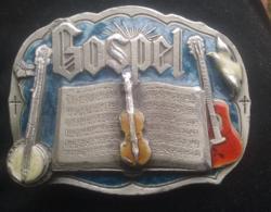Övcsat 1985. Gospel U.S.A. Tűzzománc, fém 7,5 x 5,5 cm