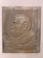 Rákosi Mátyás öntvény plakett, hibátlan, nagy méret, történelmi relikvia, a személyi kultusz példája