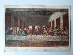 Antik levelezőlap, képeslap, Leonardo da Vinci, Utolsó vacsora