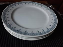 5 db HÜTTL TIVADAR antik fajansz lapos tányér (Cauldon/England)