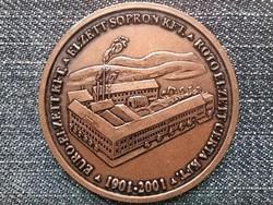 Euro-Elzett 100 éves a Vasárugyár Részvénytársaság Sopron 1901-2001 bronz érem (id44740)