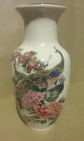 Japán pávamintás váza