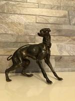 Antik bronz kutya szobor!