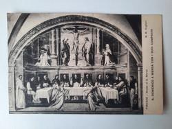 Antik levelezőlap, képeslap, Firenze, művészeti lap