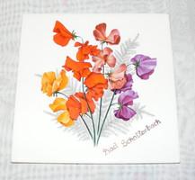 Virágos csempe, edényalátét