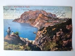 Antik levelezőlap, képeslap,Capri, 1911
