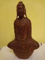 20 cm-es keményfa Buddha