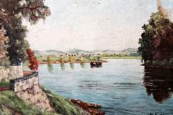 Antik szignált festmény 405