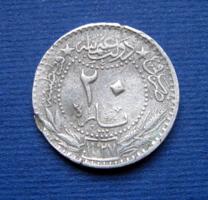 Törökország –Oszmán Birodalom - 20 Para, 1327/6 (1909) -  V. Mehmed szultán (1909 – 1918)
