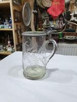 Régi üveg kupa