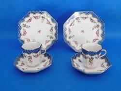 Herendi Guirlande de Liechtenstein Cappuccinos csésze+alj + sütis  tányér pár