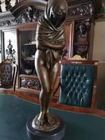 Jean-Antoine Houdon - Monumentális női akt bronz szobor műalkotás
