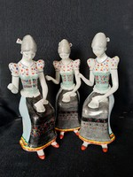 HOLLÓHÁZI matyó varrónő porcelán, hibátlan, jelzett