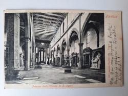 Antik levelezőlap, képeslap, Firenze, 1921