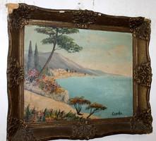 Antik szignált festmény 406