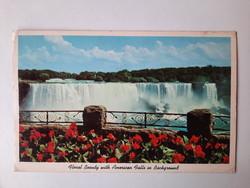 Retro levelezőlap, képeslap, Niagara vízesés, USA, 1972