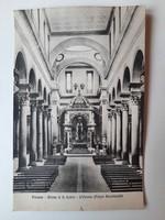 Antik levelezőlap, képeslap, Firenze