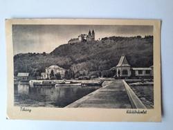 Retro levelezőlap, fotó képeslap - Tihany, 1956