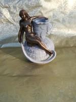 Szecessziós za bronz női akttal.