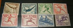 Szép német olimpia régi teljes sor 1936 Dutsches Reich német bélyeg 3. Birodalom ragasztó mentes