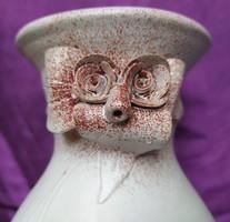 Kerámia váza - bagoly - 23 cm.